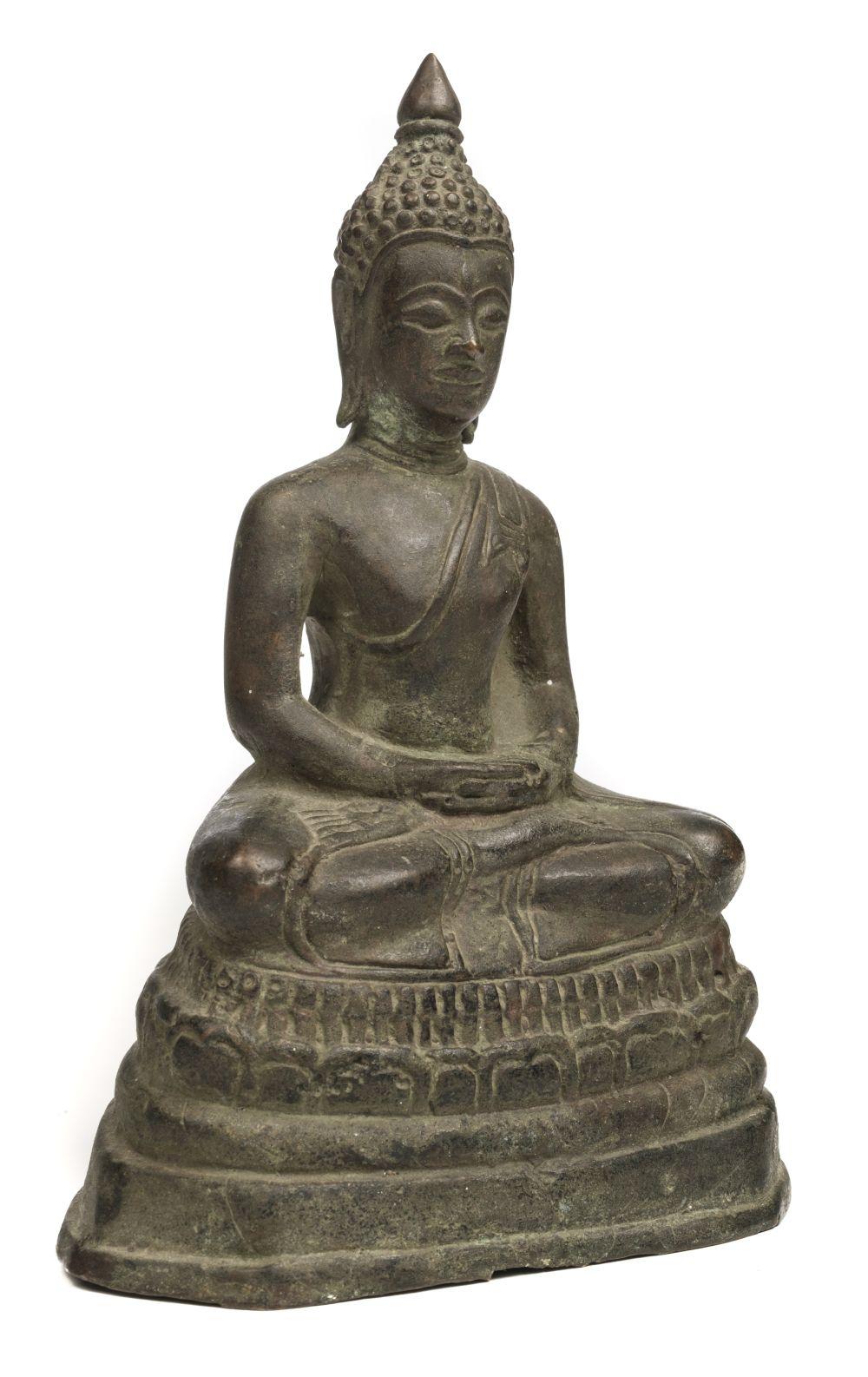 * Tibetan. Sino-Tibetan bronze figure of a buddha probably 19th-century