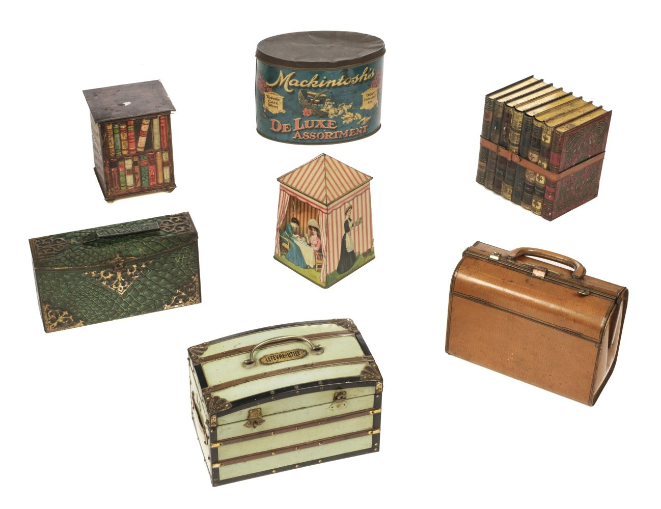 * Advertising Tins. Huntley & Palmers and others