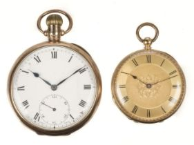 * Pocket Watch. 18ct & 9ct gold pocket watches