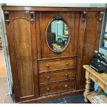 * Wardrobe. Victorian compactum wardrobe