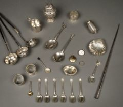 * A collection of mixed silver.