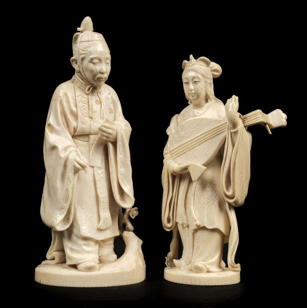 * Ivory Carvings. Chinese and Japanese figures
