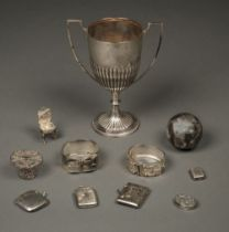 * Mixed Silver. Trophy cup and other items