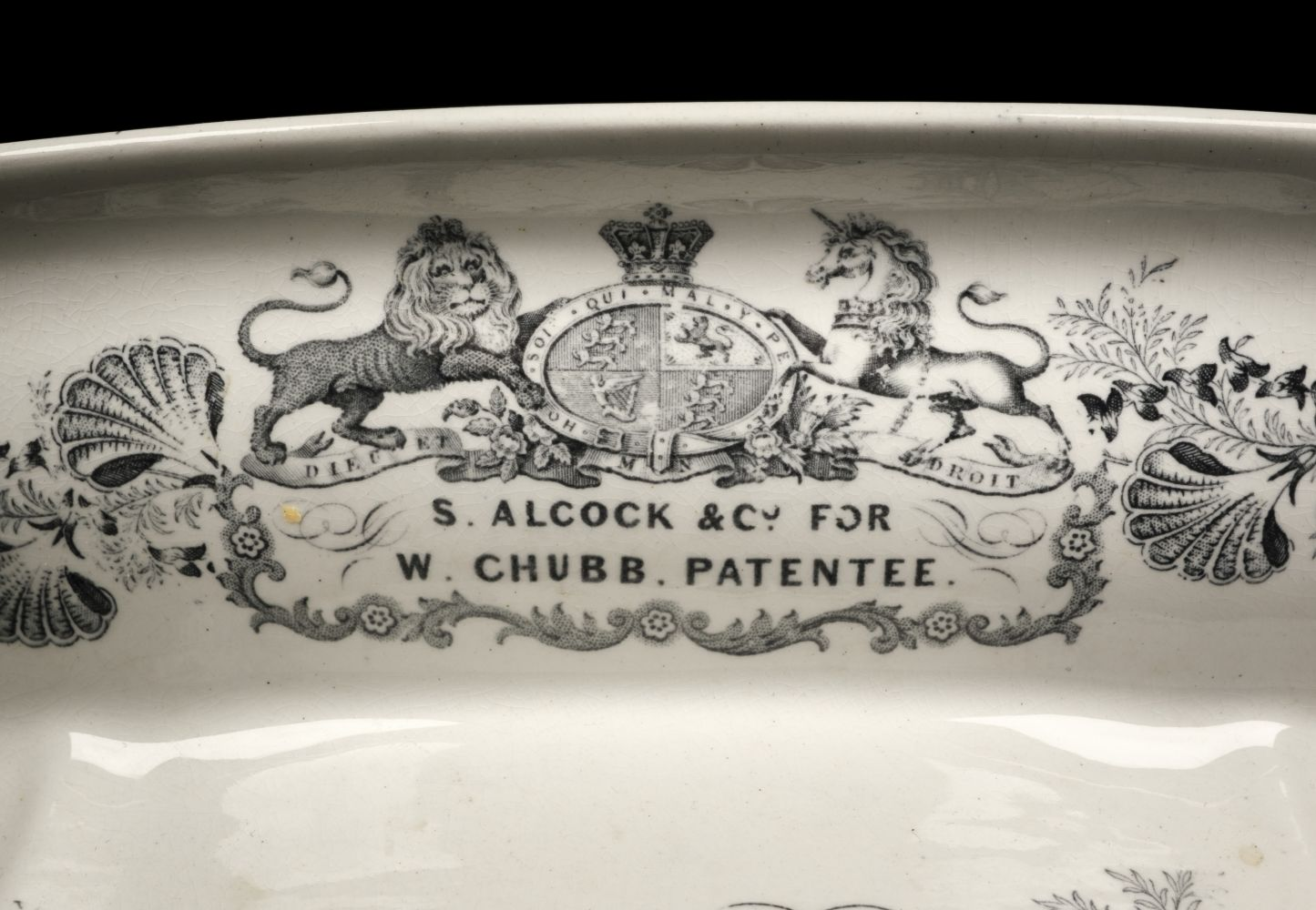 * Chamber Pot. Victorian pottery chamber pot and cover - Image 2 of 2