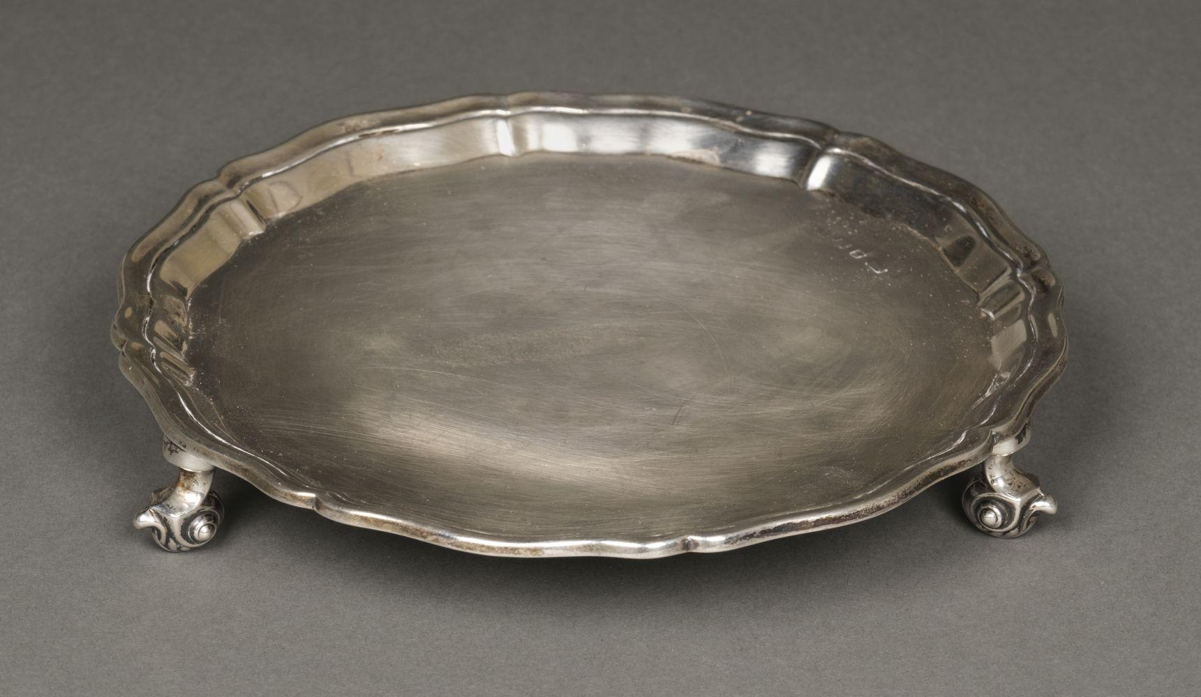 * Silver salver, 1905