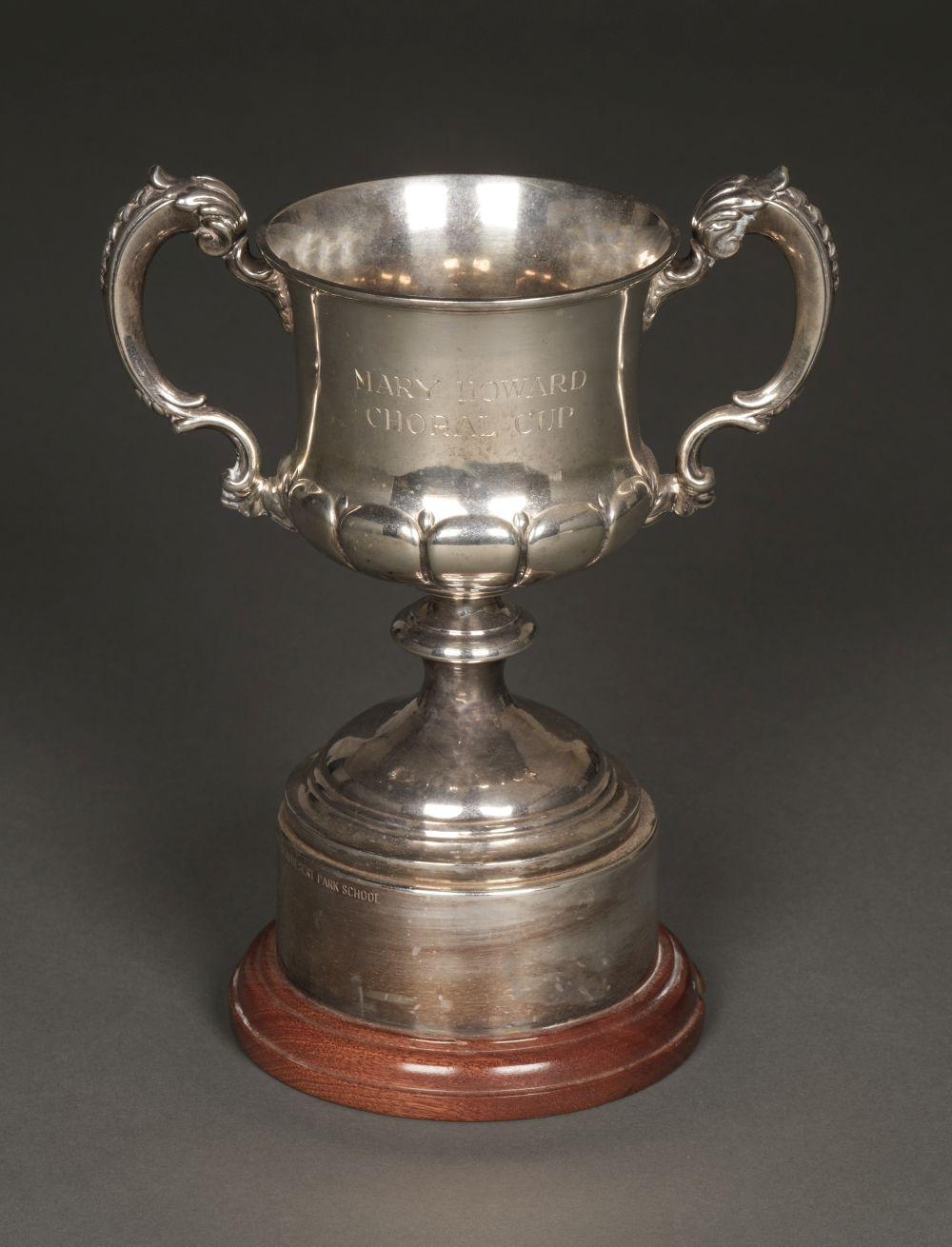 * Trophy Cup. George V silver trophy cup by Elkington & Company, Birmingham 1928