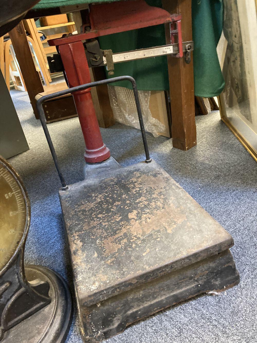* Scales. J Woolley & Sons platform scales - Image 5 of 5