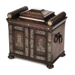 * Table Cabinet. Regency rosewood table cabinet