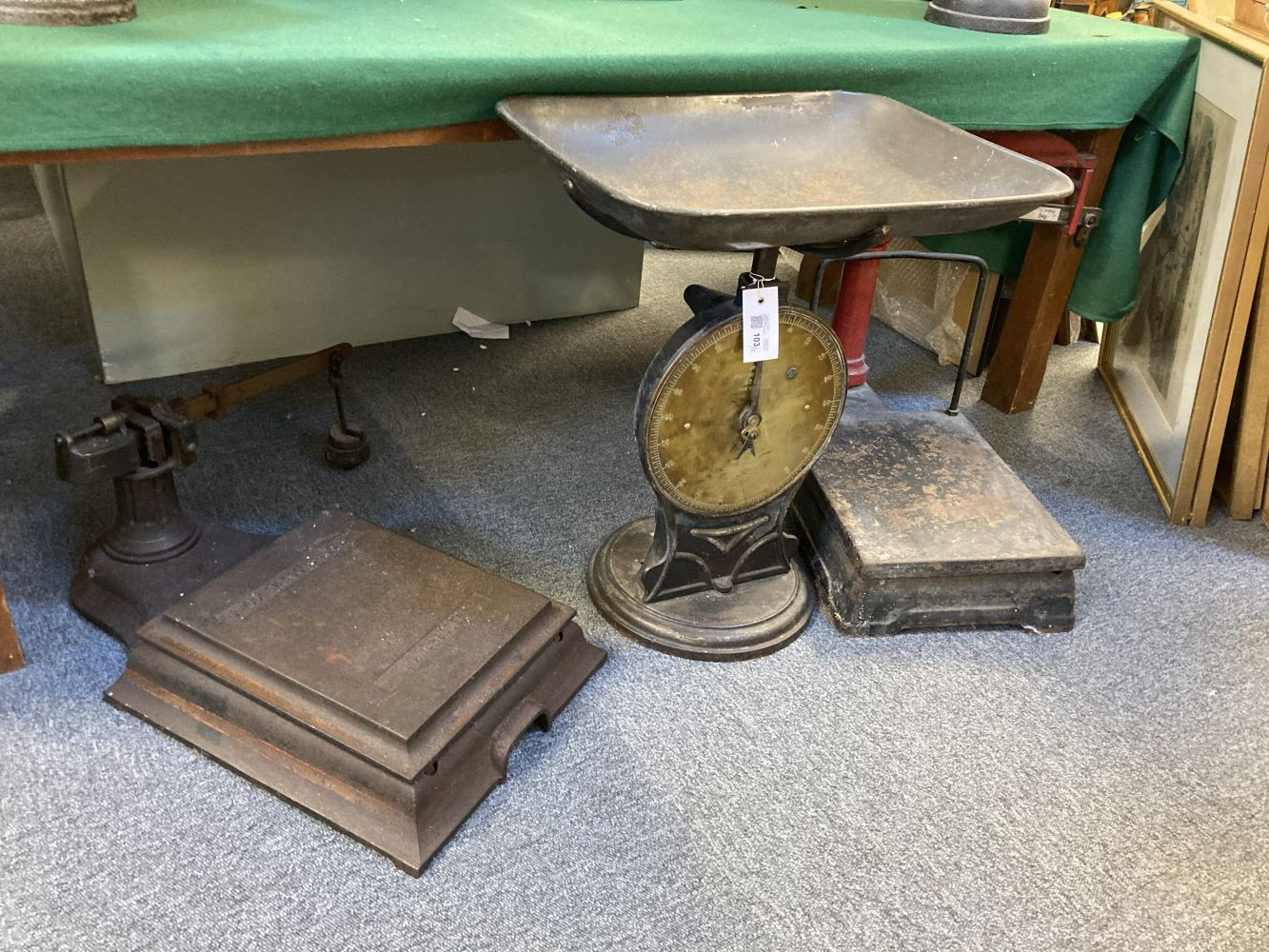 * Scales. J Woolley & Sons platform scales