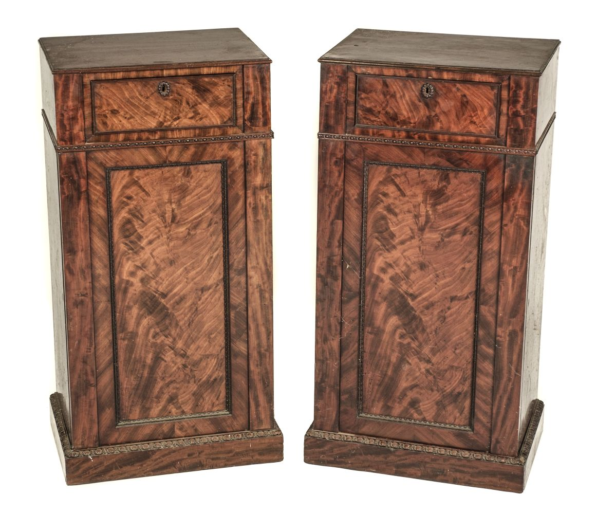 * Cabinets. Pair of William IV pedestal cabinets