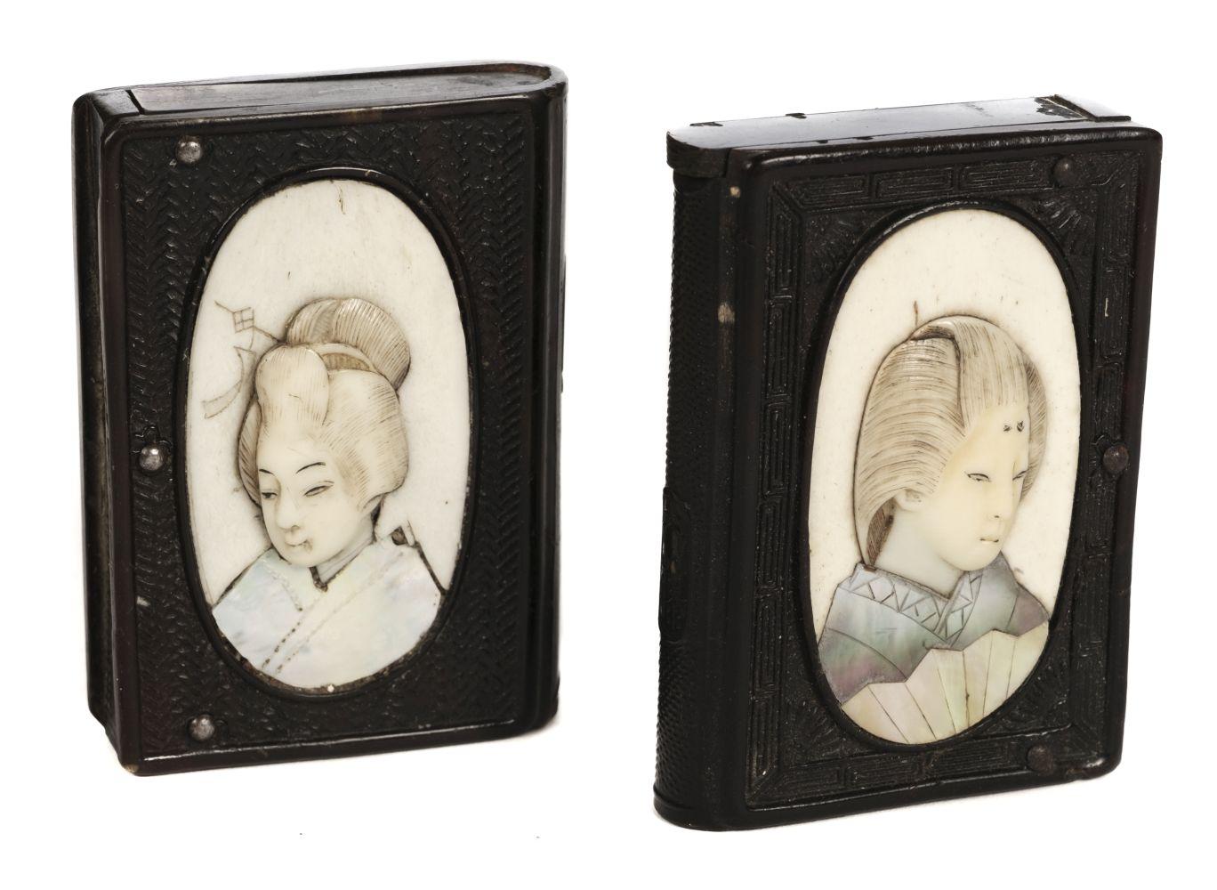 * Vestas. Two Japanese vesta cases, Meiji period