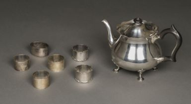* Silver Teapot and other items