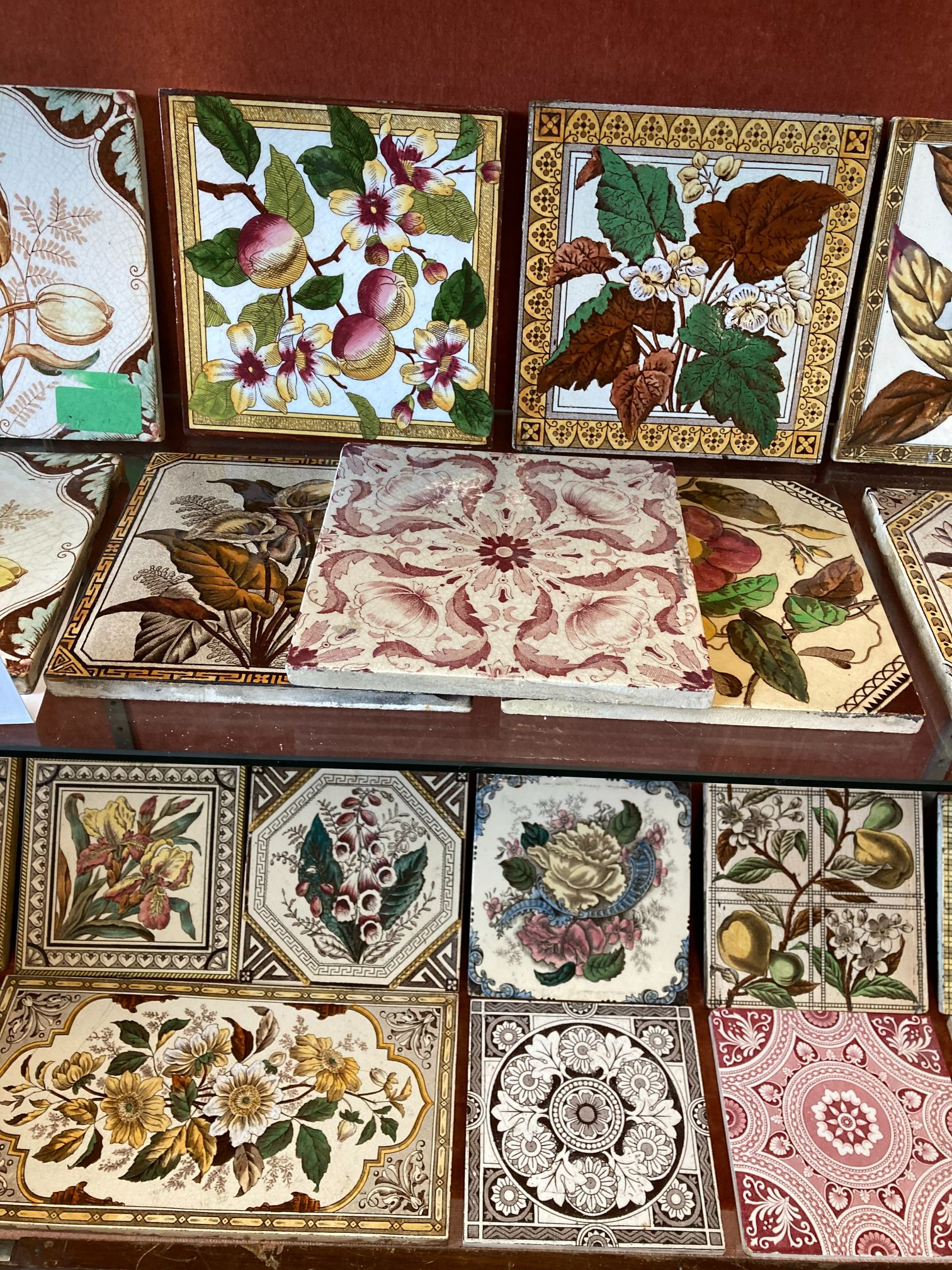 * Tiles. Mixed collection of Victorian pottery tiles - Image 5 of 6