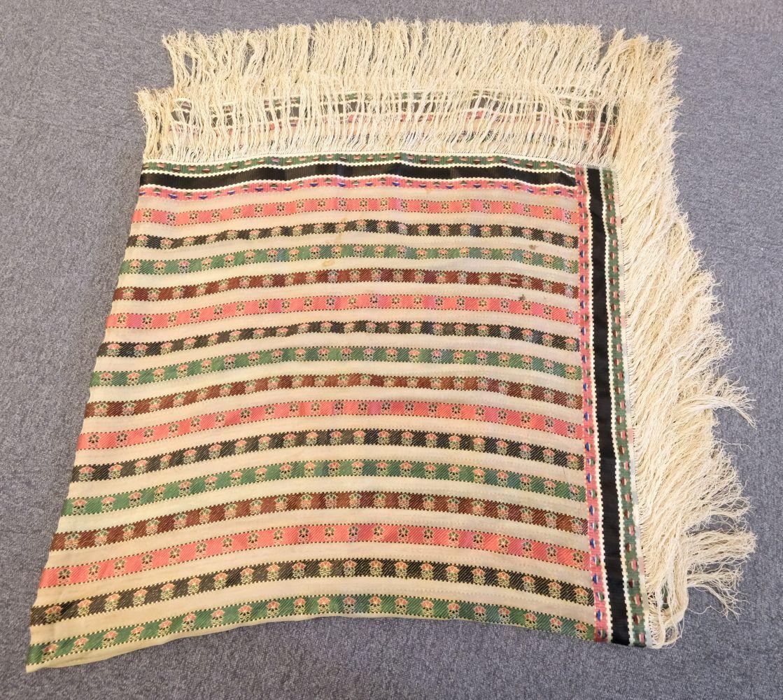 * Shawl. A woven silk satin and gauze shawl, circa 1810-1820 - Image 7 of 7