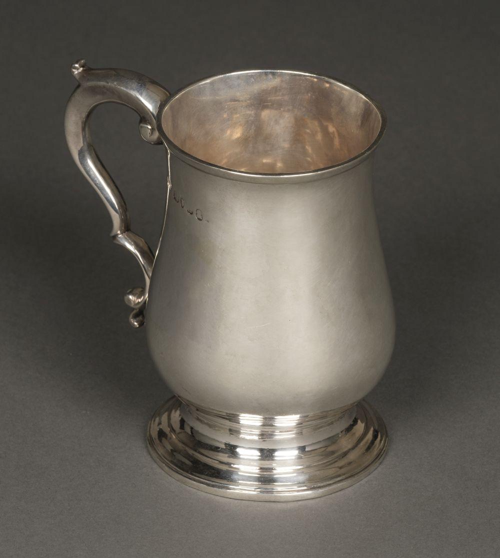 * Tankard. George II silver tankard by William Bateman I, London, 1779