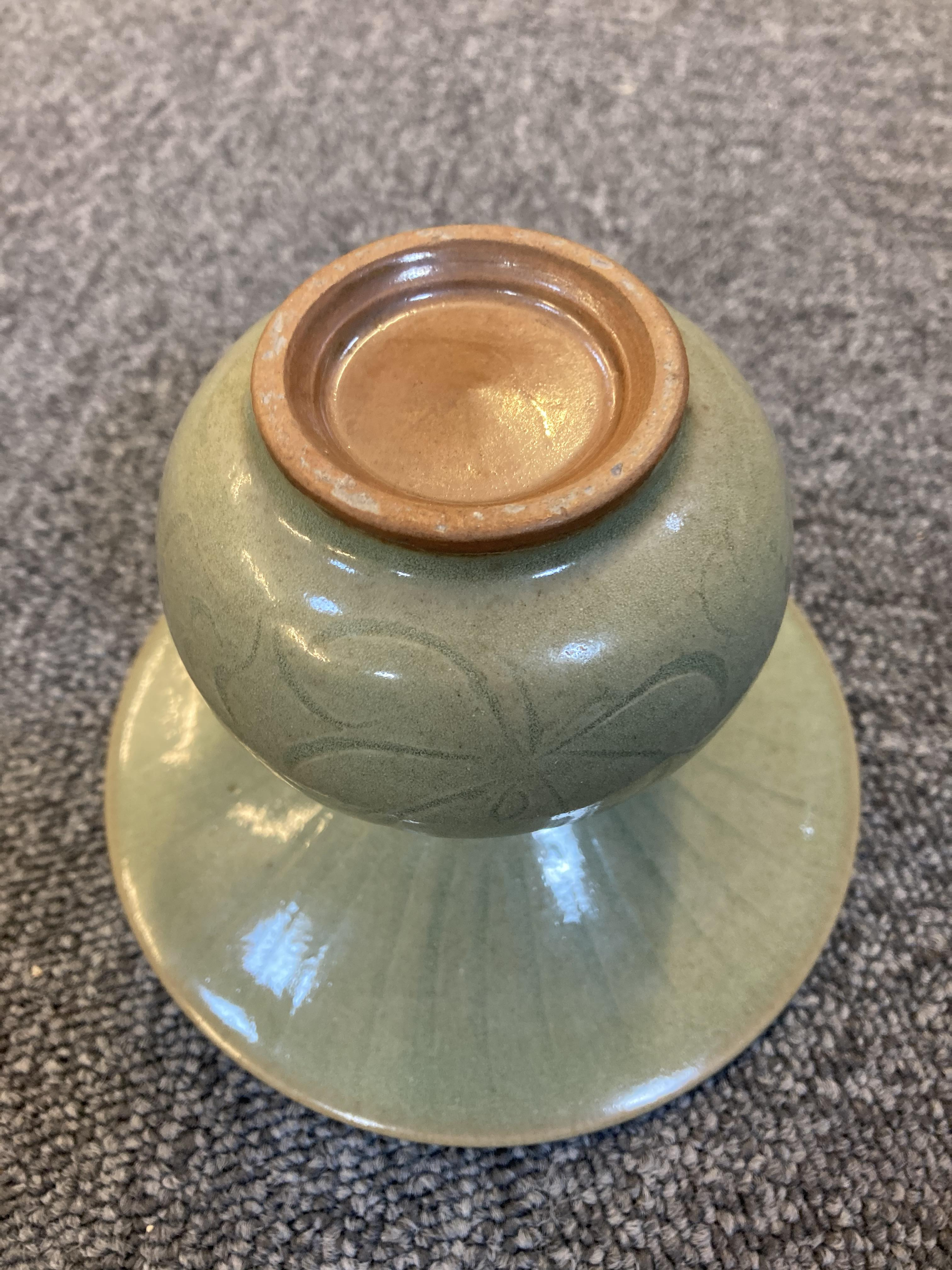 * Chinese Spittoon, Celadon spittoon - Image 5 of 6