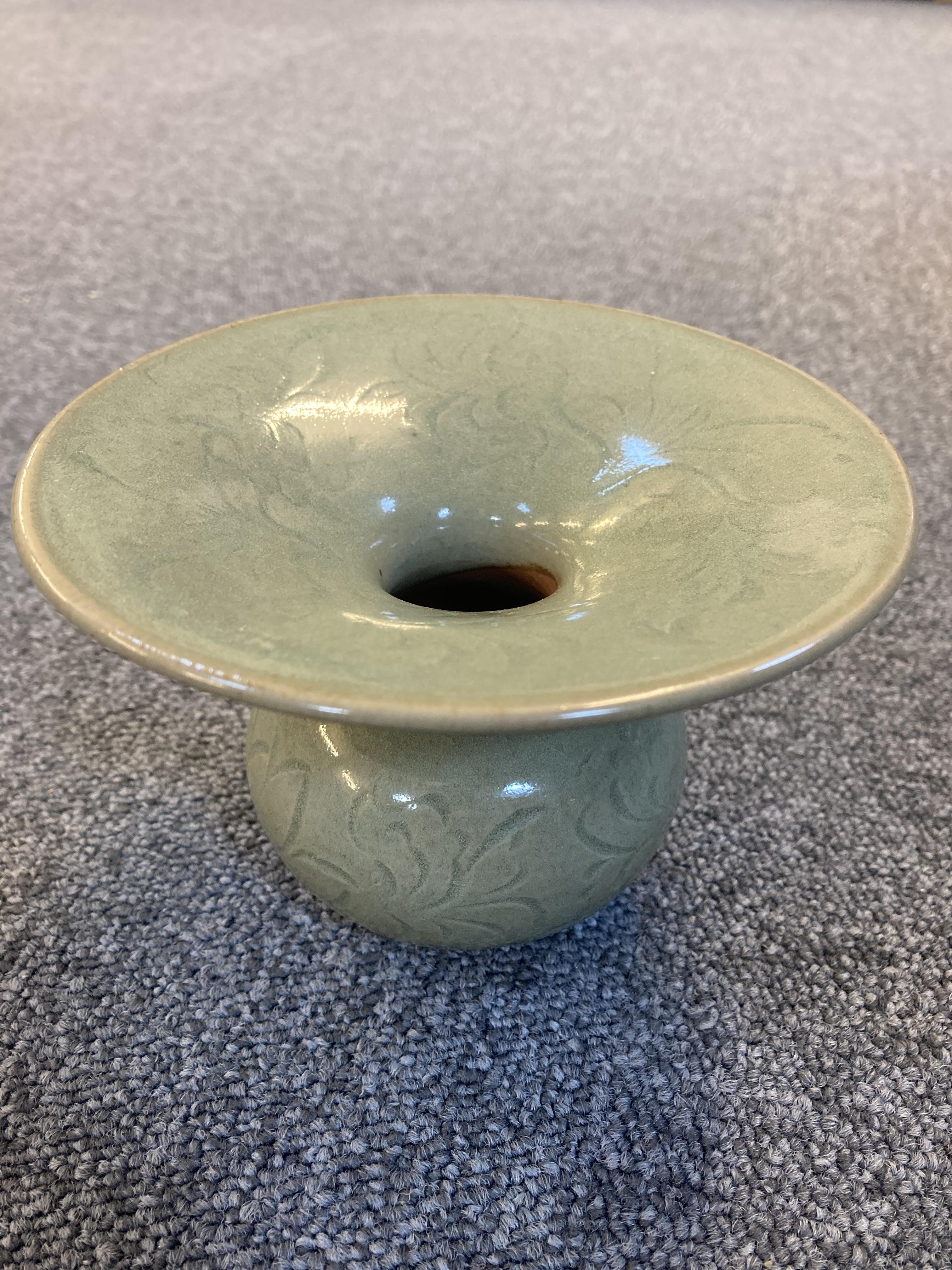 * Chinese Spittoon, Celadon spittoon - Image 2 of 6