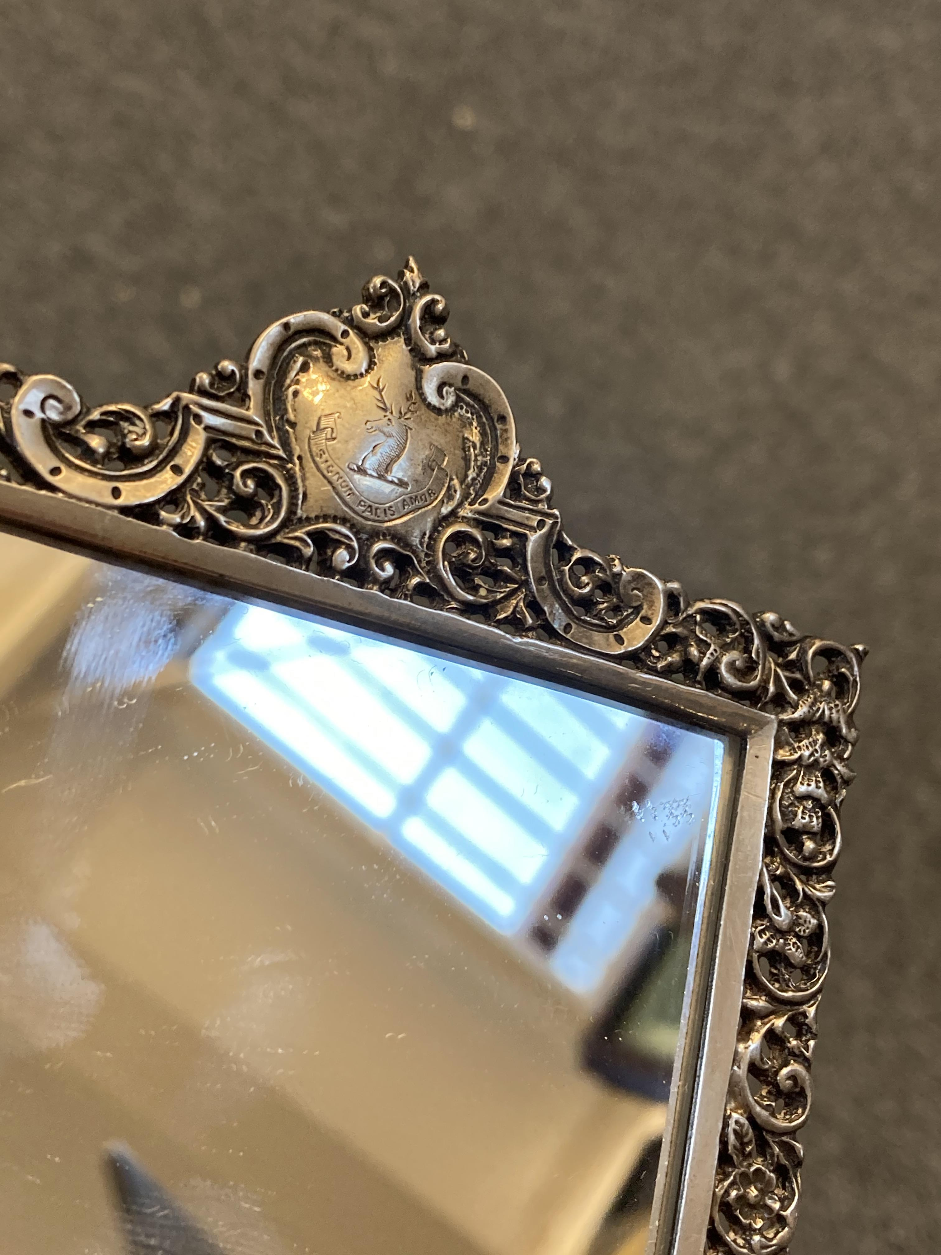 * Mirrors. Pair of Scottish silver hand mirrors by R & W Sorley, Glasgow, 1894 - Image 10 of 10