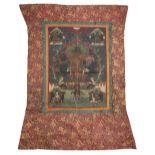 * Tibetan. A pair of thangkas, early 20th century