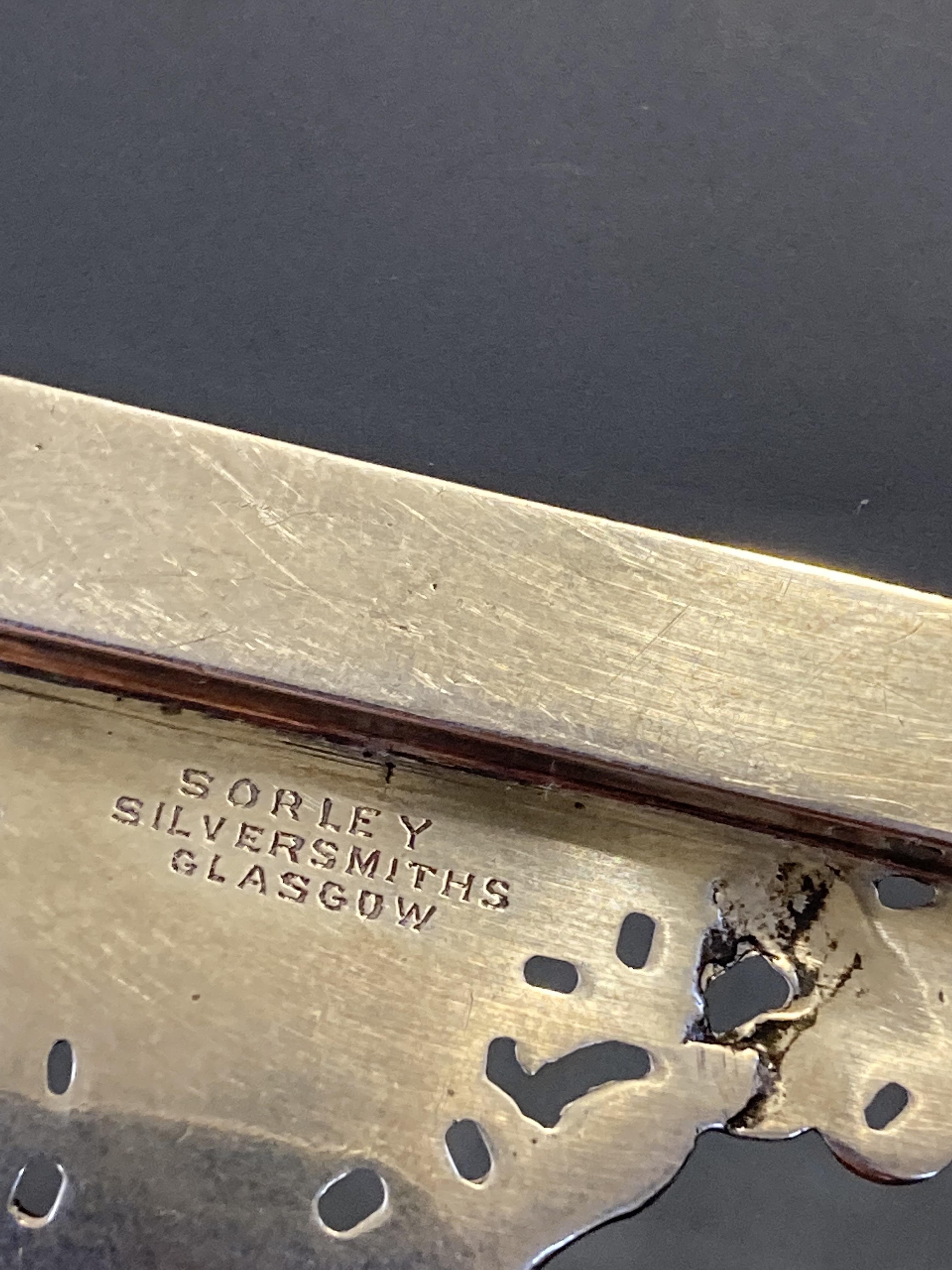* Mirrors. Pair of Scottish silver hand mirrors by R & W Sorley, Glasgow, 1894 - Image 5 of 10