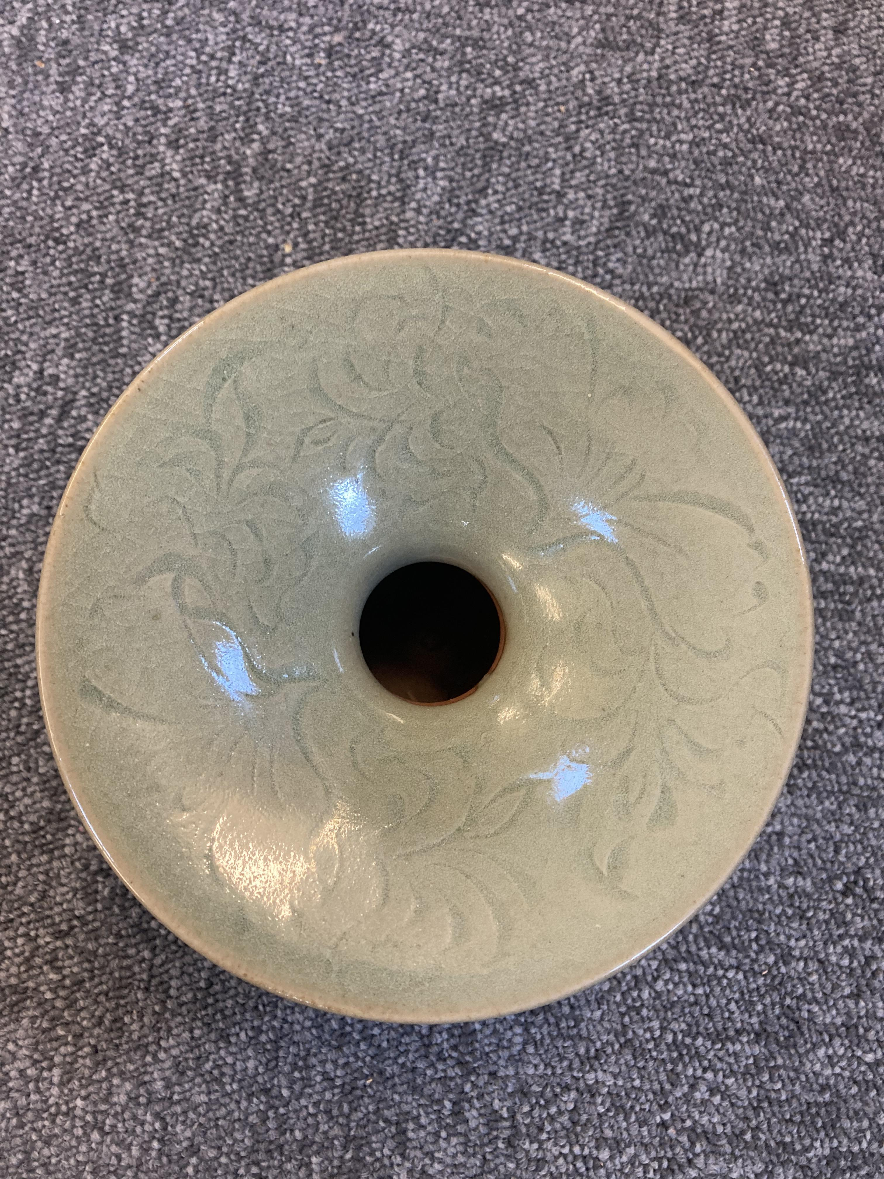 * Chinese Spittoon, Celadon spittoon - Image 3 of 6