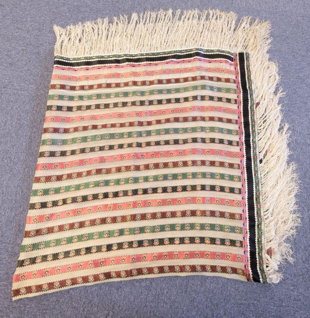 * Shawl. A woven silk satin and gauze shawl, circa 1810-1820 - Image 5 of 7