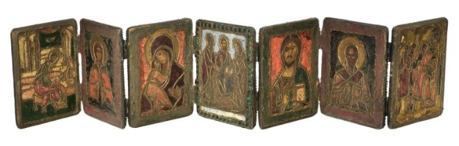 * Icon. Greek travelling icon