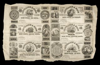 * Banknotes. Lower Canada Bank, Gulliver & Sons 1837