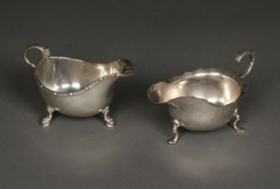 * Silver Sauce Boats, both 20th century