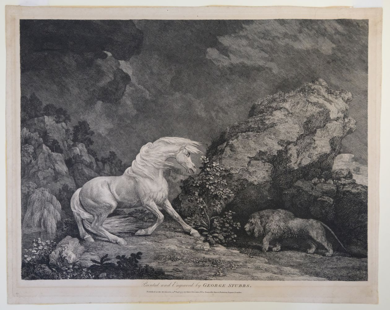* Stubbs (George). A Horse Affrighted by a Lion, 1777 - Image 2 of 9