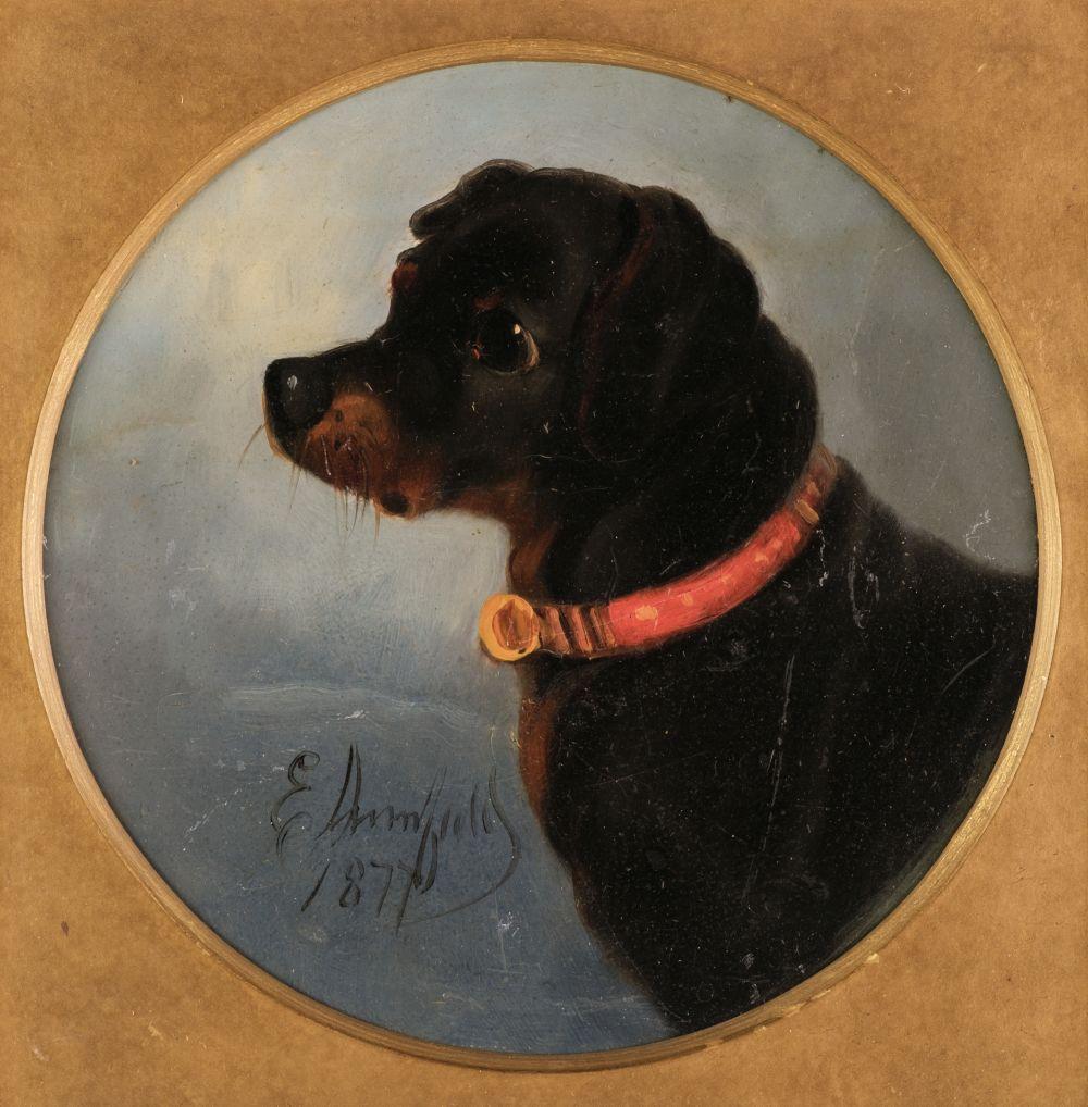 * Armfield (Edward). Portrait of a Black & Tan Terrier, 1877