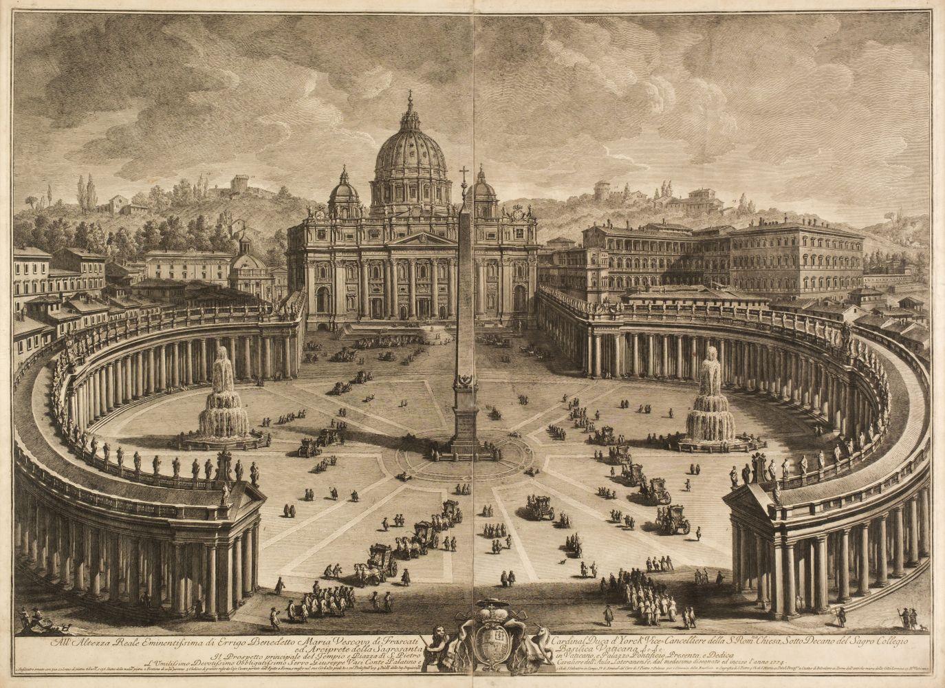 * Vasi (Giuseppe, 1710-1782). Prospetto principale del Tempio e Piazza di S. Pietro, 1774