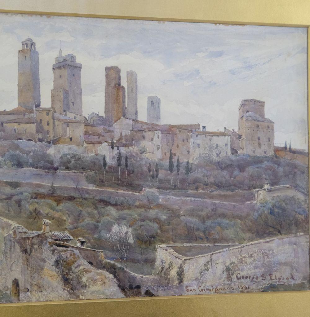 * Elgood (George S., 1851-1943). San Gimignano, 1881 - Image 4 of 6