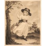 * Palmer (Mary, early 19th century). Young boy in hat ... skipping in a wooded landscape, 1812