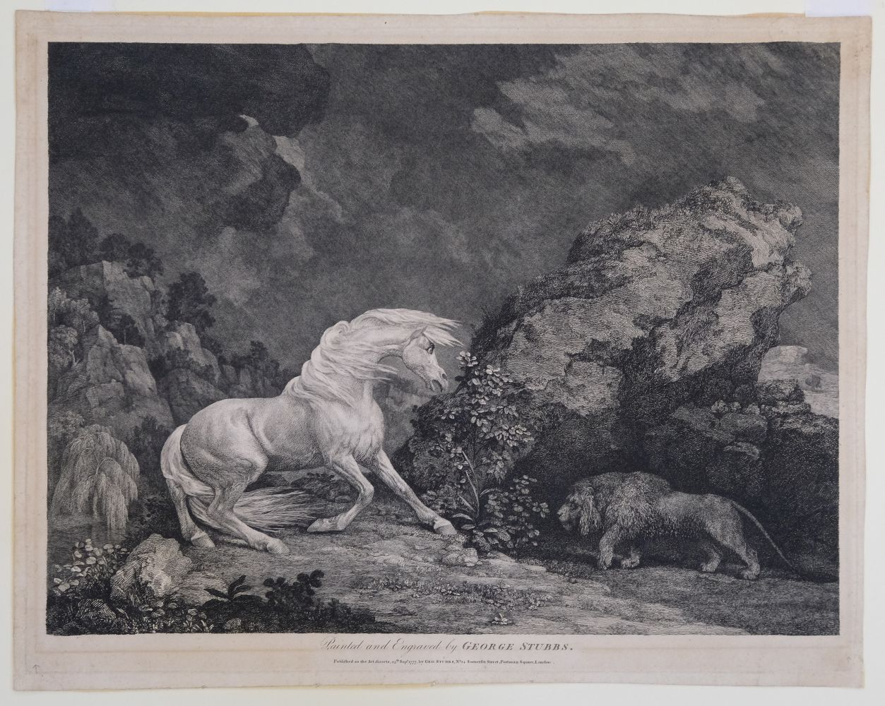 * Stubbs (George). A Horse Affrighted by a Lion, 1777 - Image 9 of 9