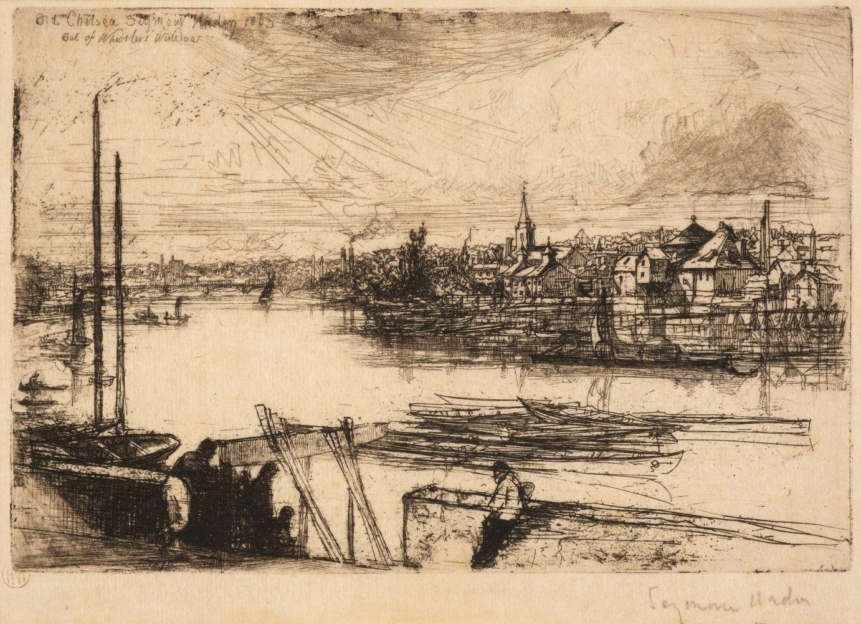 * Haden (Francis Seymour, 1818-1910). Battersea Reach, 1863