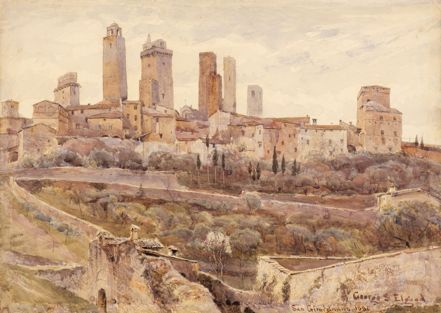 * Elgood (George S., 1851-1943). San Gimignano, 1881