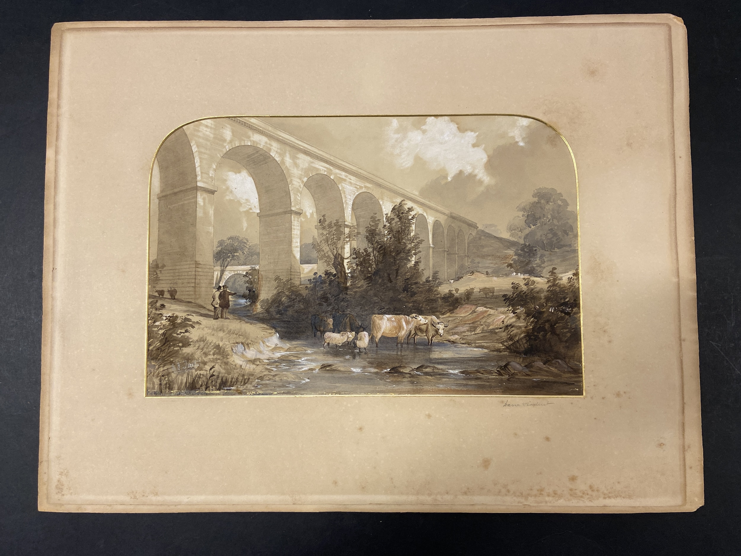 * Tait (Arthur Fitzwilliam). 7 watercolours from Views on the Manchester & Leeds Railway - Image 5 of 7