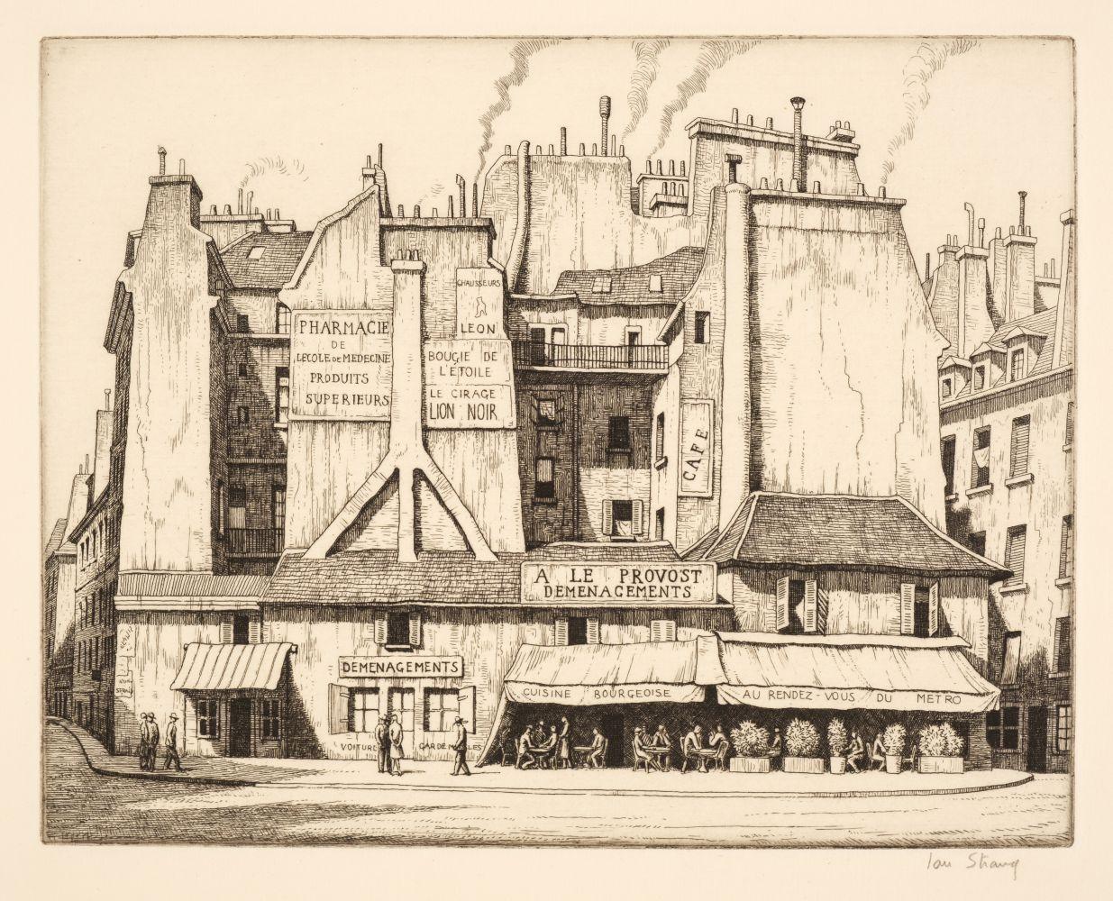 * Strang (Ian, 1886-1952). Place St André des Arts, Paris