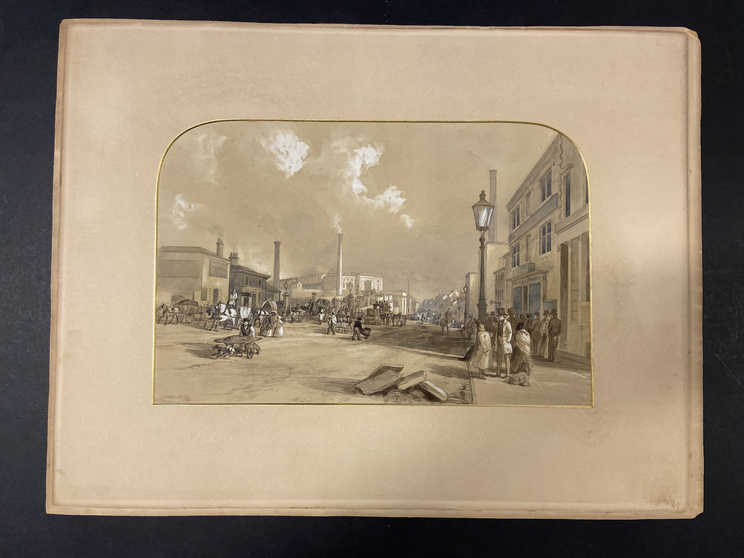 * Tait (Arthur Fitzwilliam). 7 watercolours from Views on the Manchester & Leeds Railway - Image 7 of 7