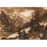 * Turner (Joseph Mallord William, 1775-1851). The Source of the Arveron & Lake Thun