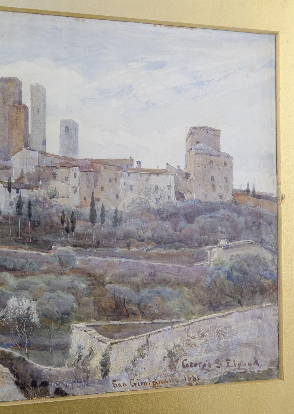 * Elgood (George S., 1851-1943). San Gimignano, 1881 - Image 5 of 6