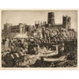 * Lishman (Walter, 1900-1986). September Evening, Durham, and 7 other etchings