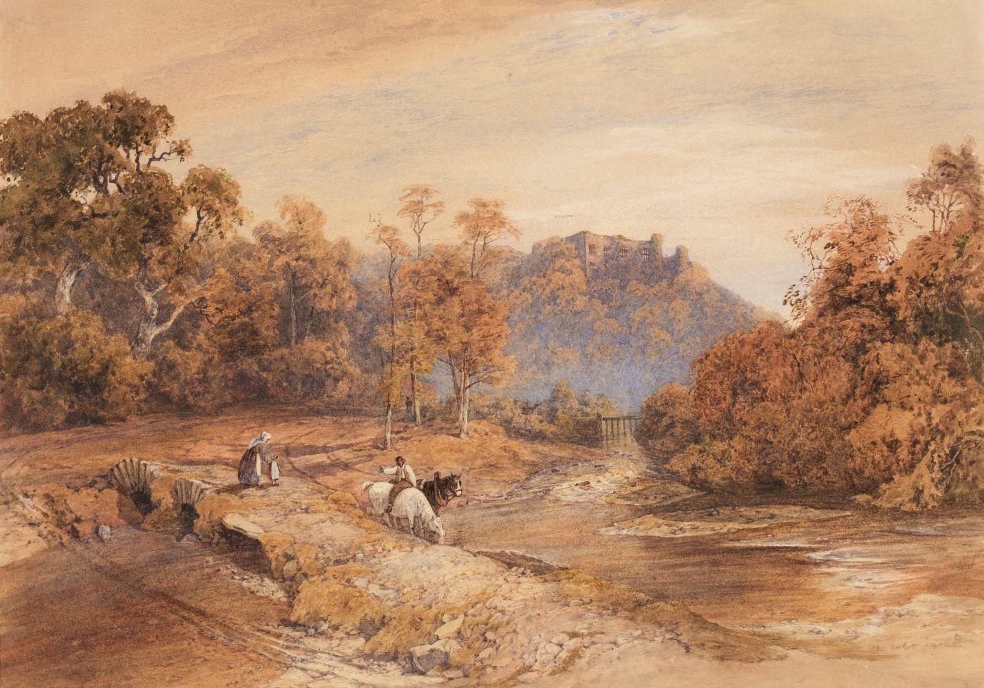 * Davidson (Charles R.W.S., 1824-1902). Berry Pomeroy Castle, Devon