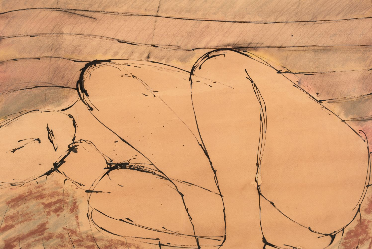 * Emanuel (John, 1930-). Nude in foetal position, and one other similar