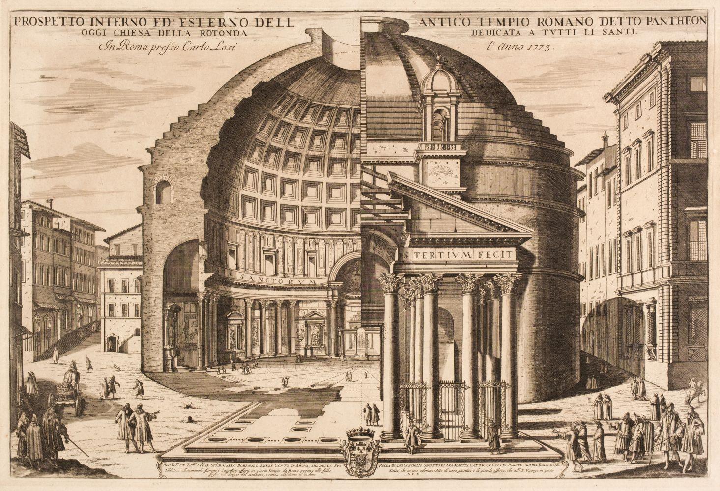 * Girelli (Pietro Paolo, circa 1685-circa 1750). Two etchings, 1773