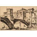 * Wedgwood (Geoffrey Heath, 1900-1977). Sospello, 1935, & 4 other etchings
