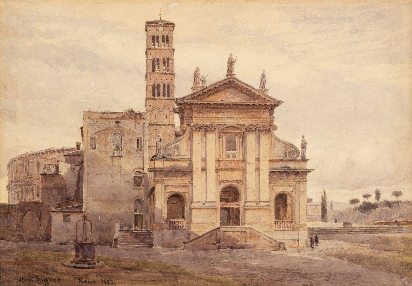 * Elgood (George S.). Basilica di Santa Francesca Romana, Rome, 1882
