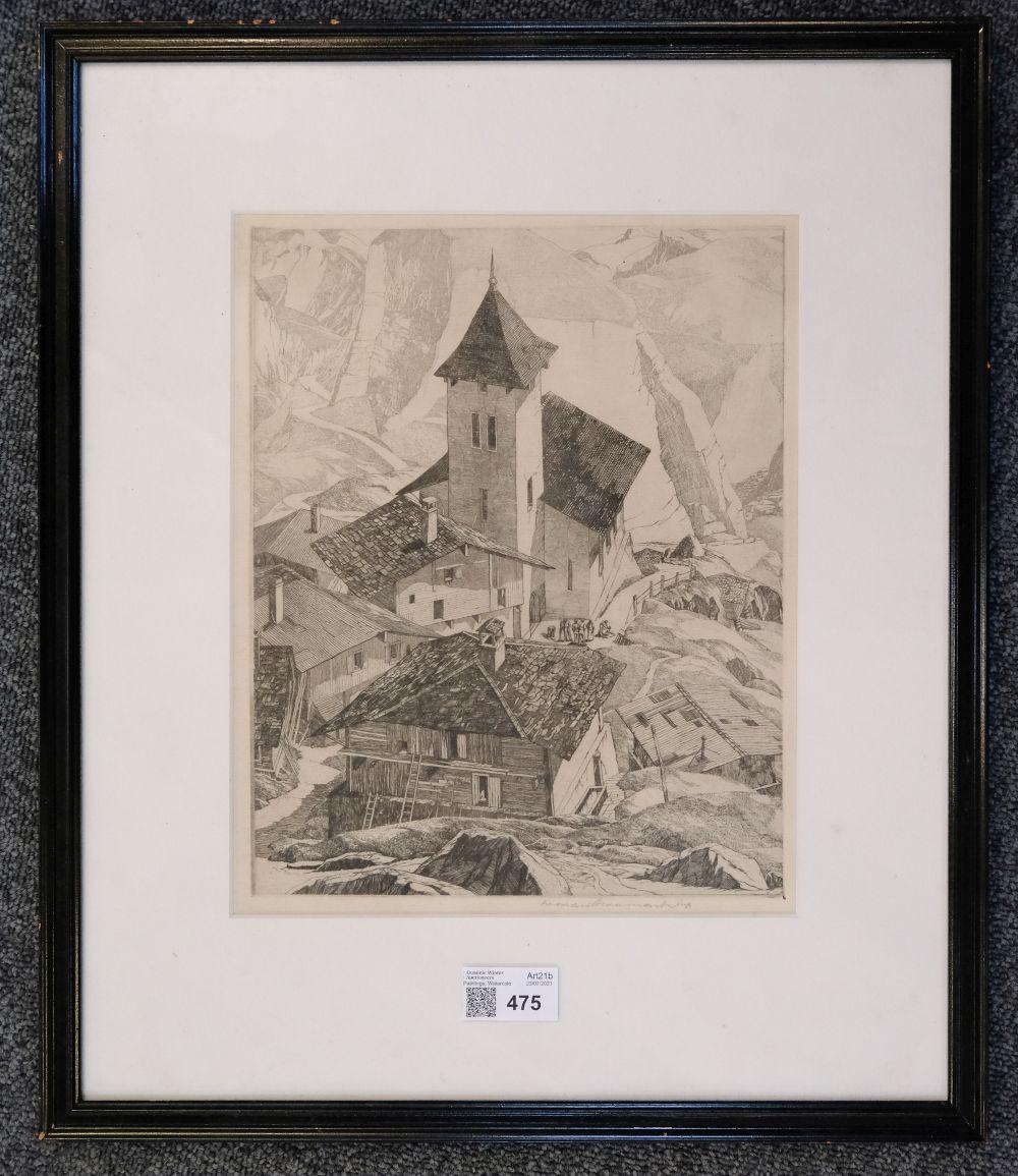 ARR * § Beaumont (Leonard 1891-1986). Italian Mountain Village - Image 2 of 4