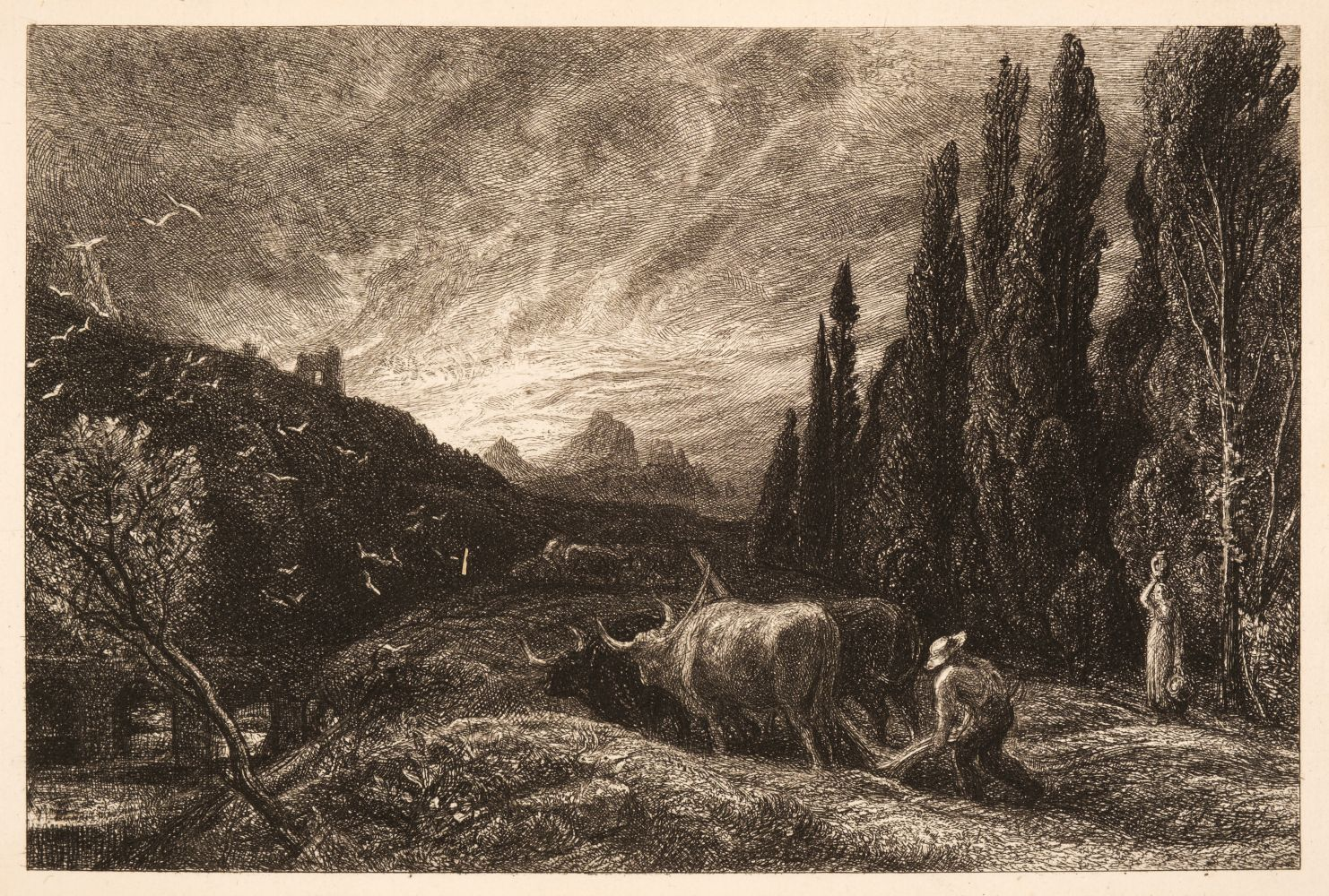 * Palmer (Samuel, 1805-1881). The Early Ploughman or The Morning Spread upon the Mountains, 1861